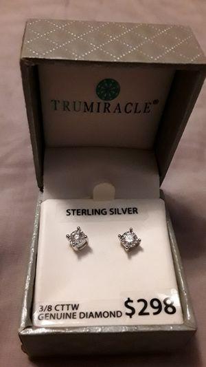 Real diamond ear rings for Sale in Little Rock, AR