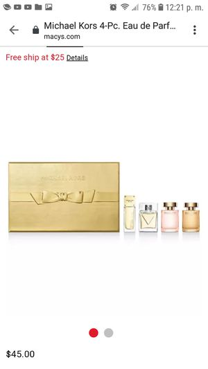 Michael Kors perfume set The Michael's Fragrance Wardrobe Coffret includes Michael Kors Signature for Sale in Mesa, AZ