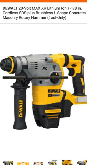 Rotary hammer dril 20 brushless. TOOL ONLY for Sale in Falls Church, VA