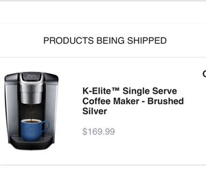 Keurig K-Elite Single Serve Coffee Maker Brushed Silver (Purchased from Keurig 6/2019) for Sale in New York, NY