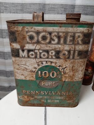 VINTAGE 2 GALLON BOOSTER MOTOR OIL CAN for Sale in Spout Spring, VA