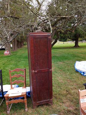 Antique wooden cabinet for Sale in Flemington, NJ