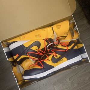 Off White Nike Dunk Low Michigans (sz11.5) for Sale in Raleigh, NC