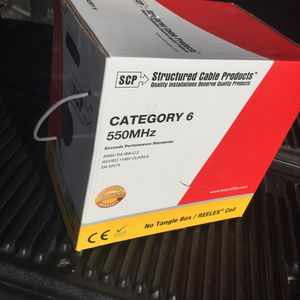 BRAND NEW BOX OF CATERGORY 6 550 MHz NETWORKING LAN CABLE!!! for Sale in North Las Vegas, NV