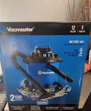 Vacmaster 12 gallon 5hp shop vac - Brand New for Sale in North Attleborough, MA