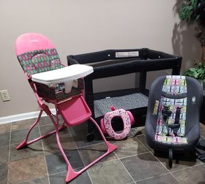 Portable pack and play, highchair, car seat, potty training seat for Sale in Wetumpka, AL