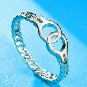 Handcuff Designed 925 Sterling Silver Or Rose Gold Couples Love Ring for Sale in Wichita, KS
