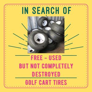 ISO - Free - Used - Golf Cart Tires for Sale in Chandler, AZ