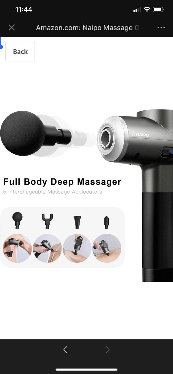 Naipo Massage Gun Deep Tissue Percussion Muscle Massager Handheld Electric Massager for Pain Relief Athlete Deep Muscle Relaxation Quiet Brushless Mo