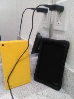 Amazon Fire Tablet w/black case and charger for Sale in Inglewood, CA