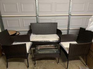 Brand New Merax 4-piece Outdoor Rattan Furniture Set Patio Wicker Cushioned Set Garden Sofa Set for Sale in Arcadia, CA
