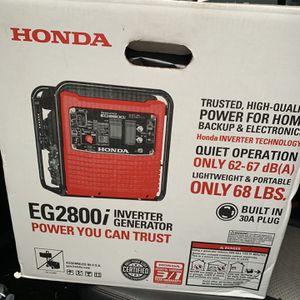 Generador O Plata Honda De 120v Nueva 750 Cash for Sale in Grand Prairie, TX