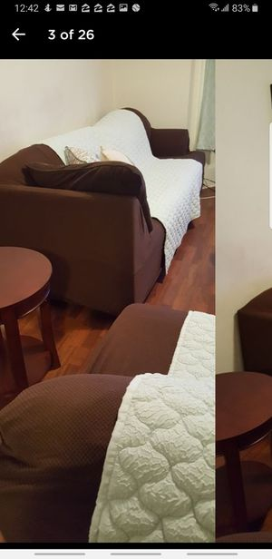 2 piece separate couch set or sectional Chocolate couch set for Sale in Covington, GA