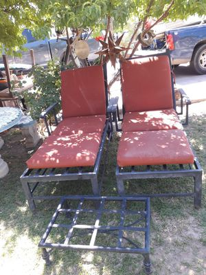 All metal pool chairs for Sale in Glendale, AZ