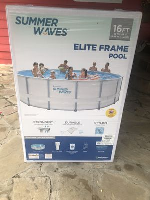 SUMMER WAVES 16FT ELITE POOL!!! for Sale in Fort Worth, TX