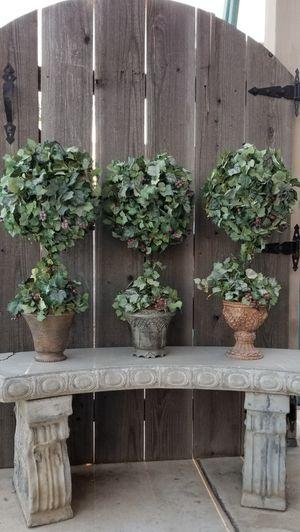 Silk Topiaries Home Decor ~$25 each for Sale in Manteca, CA