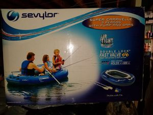 NIB 3 person inflatable boat w/ pump and oars for Sale in Philadelphia, PA