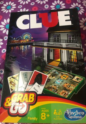 Clue board game grab and go for Sale in Norfolk, VA