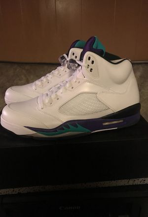 Brand new! Air Jordan 5 white grape size 12 for Sale in Washington, DC