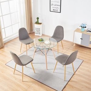 Dining Table with 4 Side Chairs,5 Pieces Dining Set Kitchen Table Set with Metal Base for Small Spaces,Gray for Sale in CTY OF CMMRCE, CA