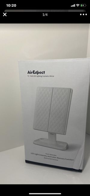 Air Expect. Tri-fold LED Lightening Cosmetic Mirror for Sale in Glendale, AZ