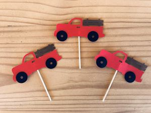 Red Pickup Truck Cupcake Toppers for Sale in Gilbert, AZ