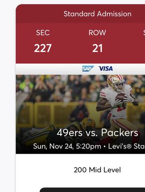 49 ers Tickets for Sale in Sunnyvale, CA