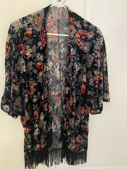 Velour Mini kimono With Fringes for Sale in Clarksburg,  MD