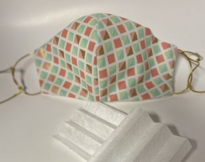 Geometric Design fully lined, wired Cotton mask w HEPA filters for Sale in Jacksonville, FL