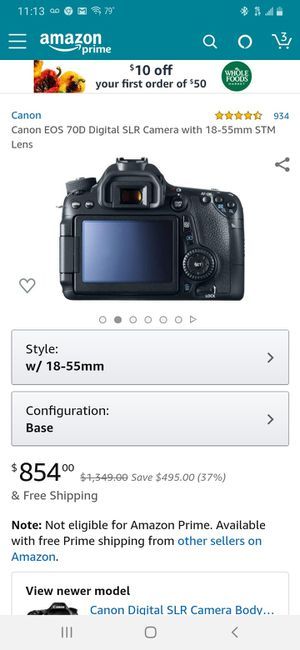 Canon 70D eos camera and lens w/accessories for Sale in Oakland Park, FL