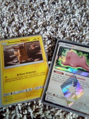 2 rare holographic Pokemon cards for Sale in Austin, TX