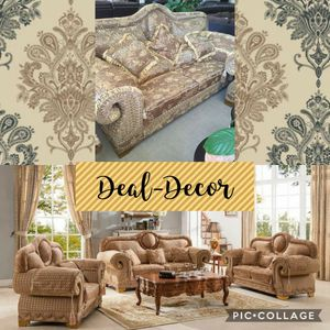 Grand gold sofa & loveseat for Sale in Marietta, GA