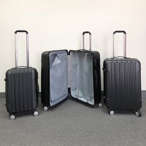 """Brand new $95 Black 3pcs Luggage Travel Set Bag ABS Trolley Rolling Wheels Suitcase 20"""" 24"""" 28"""" for Sale in Pico Rivera, CA"""
