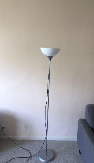 """SILVER 69"""" FLOOR LAMP - $10 OBO for Sale in San Francisco, CA"""