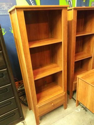 2 shelves/media stands/storage/book shelves like new. for Sale in Tacoma, WA