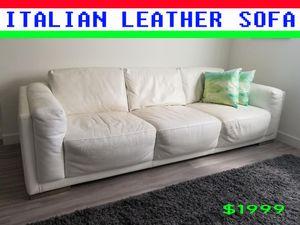 LUXURY ITALIAN LEATHER SOFA for Sale in Miami, FL