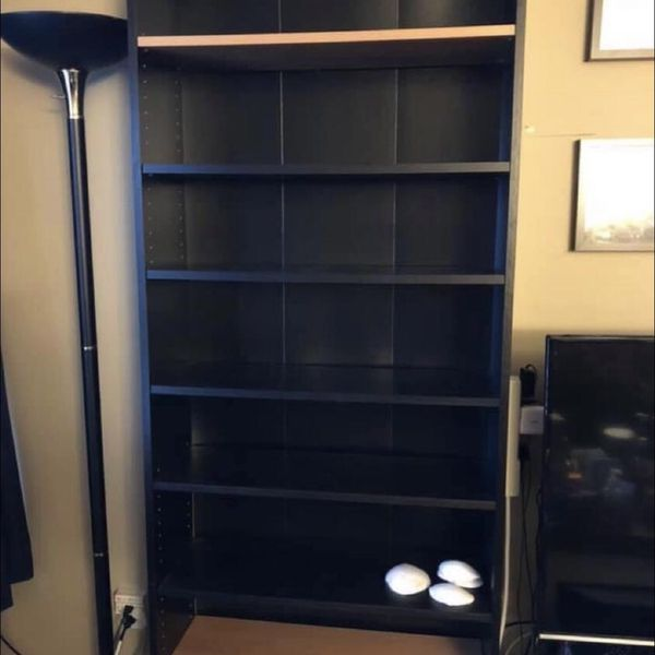 Brown Black IKEA Billy Bookshelf