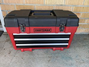 Craftsman 3 drawer portable tool box for Sale in Toledo, OH