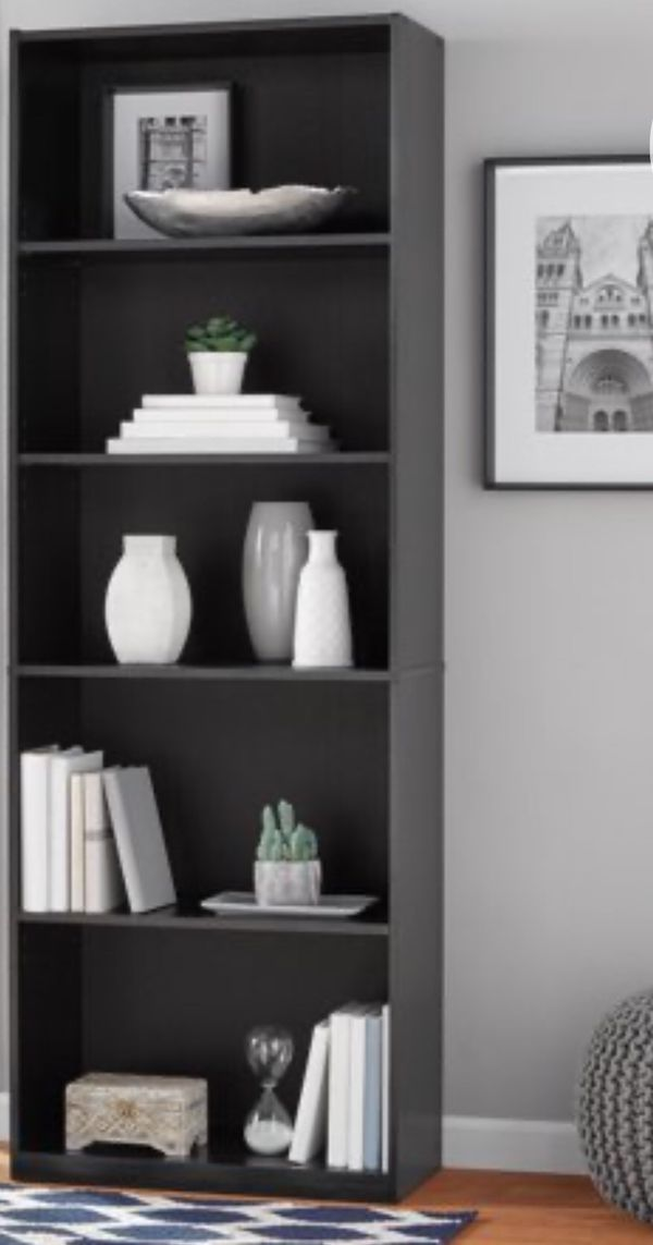 "New!! Bookcase, bookshelves, storage unit, organizer, 5 71"" shelves bookcase, living room furniture, espresso"