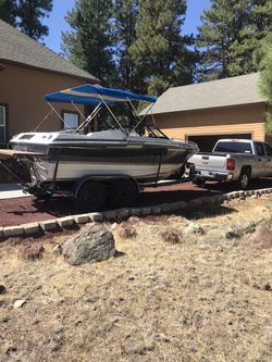 1987 Sebring Regal 20.5 Foot Boat And 2 Axle Trailer Very Good Condition For Year 4,000 OBO Call Jack {contact info removed} for Sale in Seattle,  WA