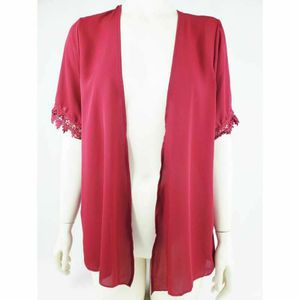 Poetry Womens Kimono Open Front Shirt Pink Short Sleeve Lace Trim Cardigan USA M for Sale in Avondale, AZ