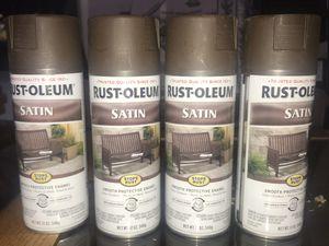 Rust-Oleum Stops Rust Satin Dark Brown Spray Paint for Sale in Beaverton, OR