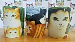 Martin Leman Dept 56 3-Piece Cat Coffee Tea Mug Cup Set for Sale in Elmhurst, IL