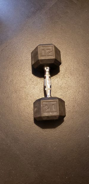 Hex Dumbbell   Rubber   20 Pounds for Sale in Cutler Bay, FL