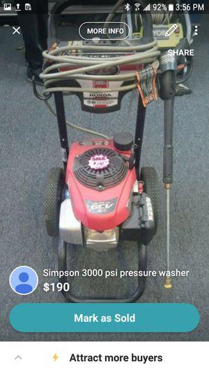 Simpson 3000 psi pressure washer for Sale in Marietta, GA