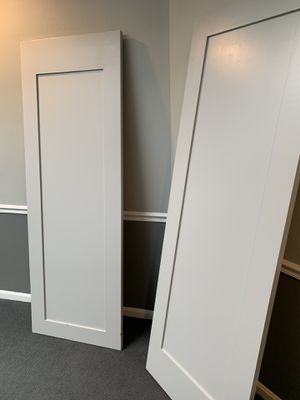 2 new doors painted gray 28x80 for Sale in Washington, DC