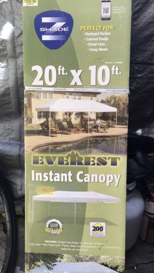 Z-SHADE EVEREST 20X10 FT. INSTANT CANOPY NEW IN BOX 📦 ((NUEVA))$165 for Sale in Los Angeles, CA