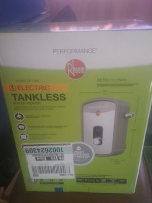 Rheem tankless hot water heater brand new for Sale in Roosevelt, AZ