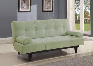 Microfiber Adjustable Sofa Apple Green or Black for Sale in Hialeah, FL