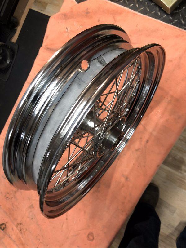 "Original Harley-Davidson star hub new SS spokes new 16"" rim Panhead Shovelhead knucklehead"